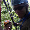 My Daughter and I tandem rappelling at Peter's Kill.