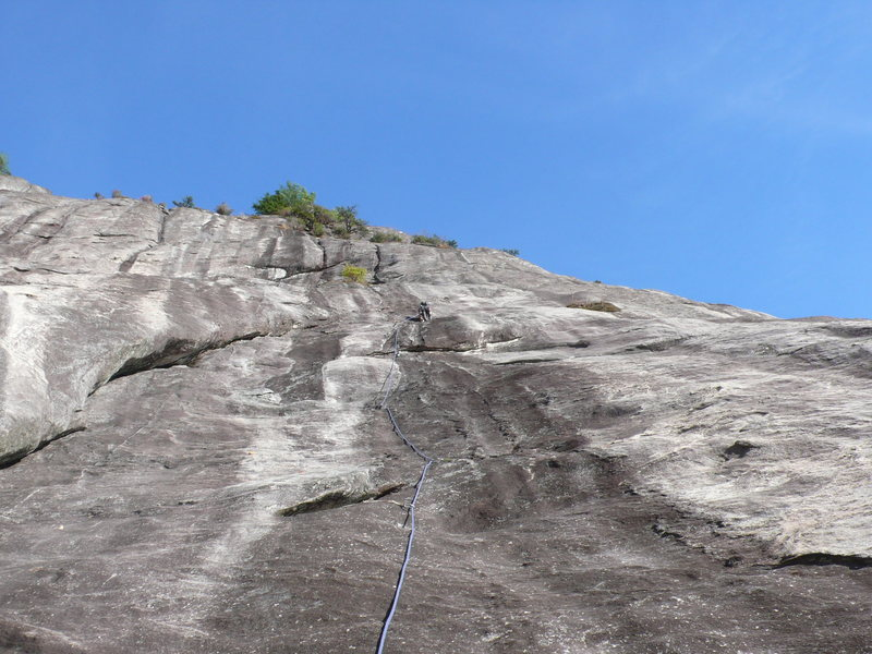 Rock Climbing Photo: Shows the full route above the easy 4th/5th class ...