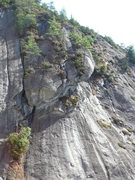 Rock Climbing Photo: Generally, the upper part of P1 and the plank. Goo...
