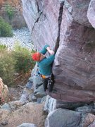 Rock Climbing Photo: How can such a short crack make you puff so hard?