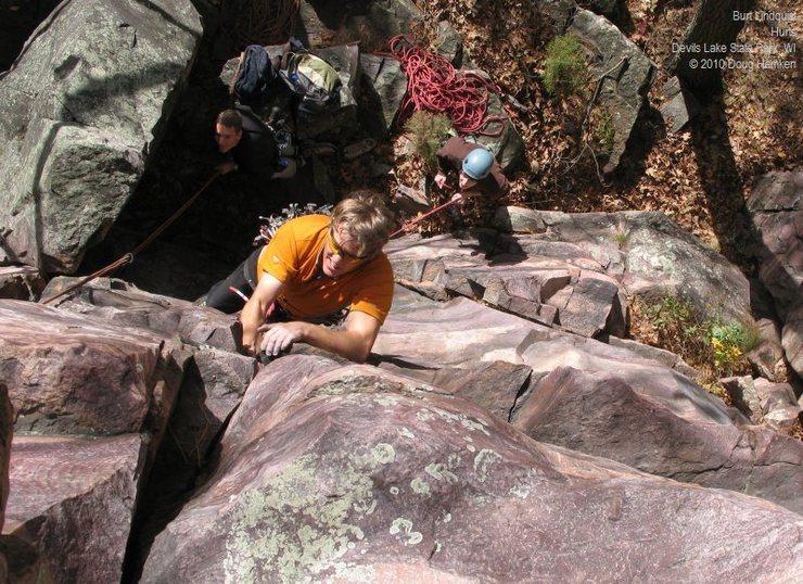 "Rock Climbing Photo: Burt's ""Hurts."""