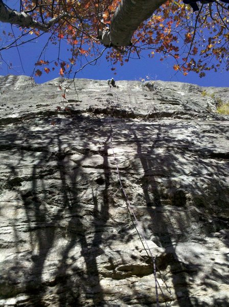 Rock Climbing Photo: Great fall day.