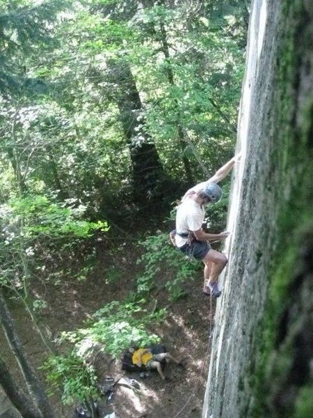 Rock Climbing Photo: Logan Jamison closing the Zip.
