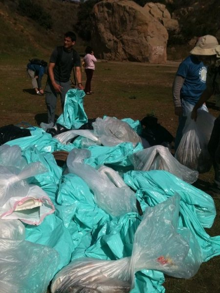 Trash from the Stoney Point Clean Up 10/30/10 and Boulder @POUND@1