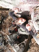 Rock Climbing Photo: Eyes locked on the last hold