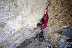 Rock Climbing Photo: Peyton Hassinger leading Barnie's Corner. Oct. 31,...