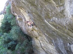 Rock Climbing Photo: Old photo of Andy not sending on Chips. Yes, it is...