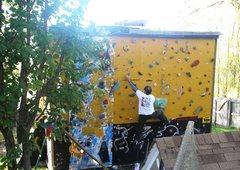 Rock Climbing Photo: Outdoor wall in the fall.
