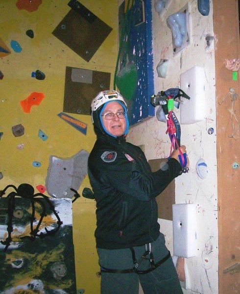 Indoor for ice wall seasonal warm up climbs.
