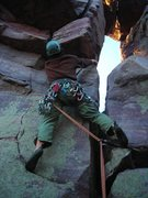 Rock Climbing Photo: Dylan leading Impossible Crack.