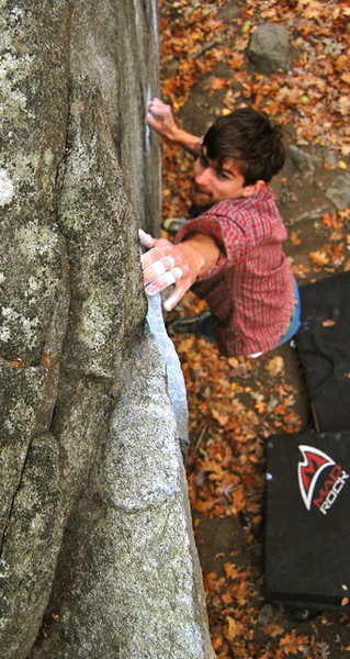Rock Climbing Photo: Another of Sam on Try again