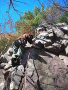 Rock Climbing Photo: Dylan on on-sight flash lead of Faith, Hope, and T...