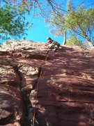 Rock Climbing Photo: Dylan on Peter's Project #2 10-31-10.  Spooktacula...