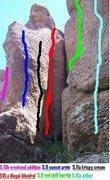 Rock Climbing Photo: Shady days
