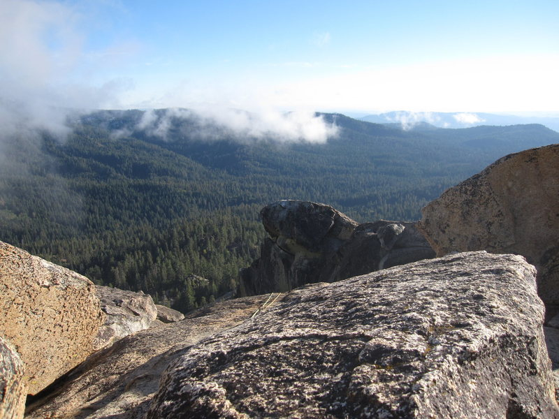 View from the summit looking southeast towards Little Shuteye Peak.