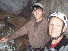 Rock Climbing Photo: John Knight and Bryan Carroll at FA of Vertigo (C2...