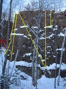 Rock Climbing Photo: Diagonals Left side. - LOOK OUT FOR BLOCK OF DEATH...