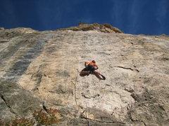 Rock Climbing Photo: Beginning up the stellar Face Dancer.