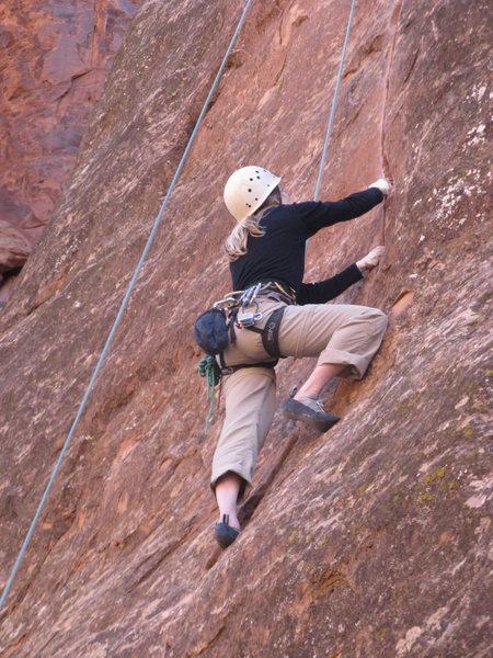 Jenny climbs
