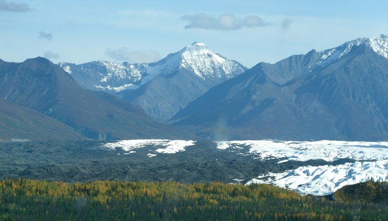 Matanuska Glacier from the Glenn Hwy in the fall