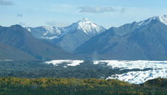 Rock Climbing Photo: Matanuska Glacier from the Glenn Hwy in the fall