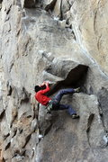 Rock Climbing Photo: Cruxing. Photo by Mike Manganiello