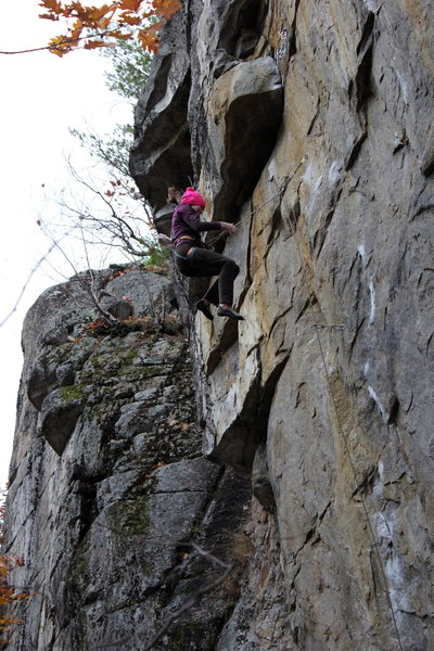 Rock Climbing Photo: I forget if this was a true whipper or a jump from...
