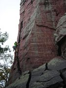 Rock Climbing Photo: Snapped this shot of gal from SLC leading Brinton'...