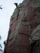 Rock Climbing Photo: Gal from SLC styling Brinton's Crack with Andrew B...