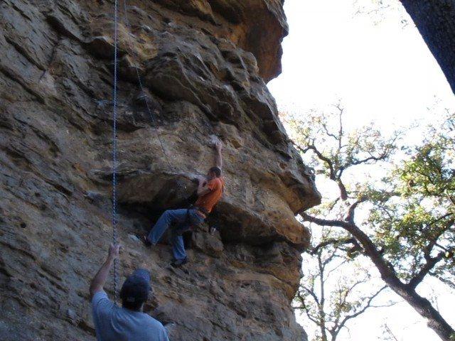 Rock Climbing Photo: Goin up Pee Wee's