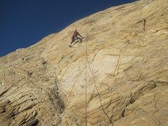 Rock Climbing Photo: The first bolt
