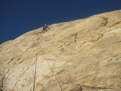 Rock Climbing Photo: To second bolt