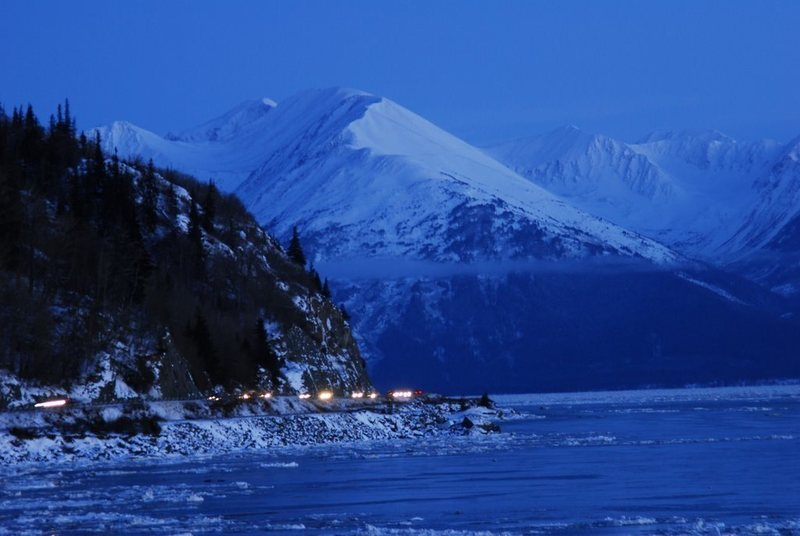 The Seward Highway is really beautiful.