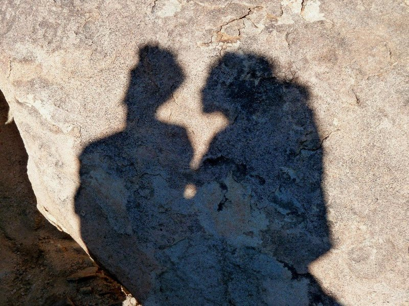 Rock Climbing Photo: Shadow people in the Outback, Joshua Tree NP