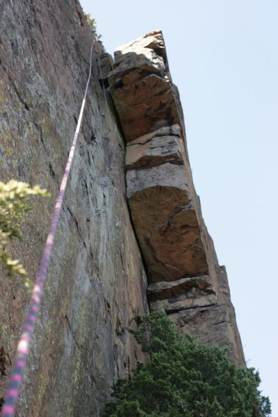 Rock Climbing Photo: Here is a shot from the base of the route.