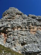 Rock Climbing Photo: Inez on the start of Via delle Guide on Torre Gran...