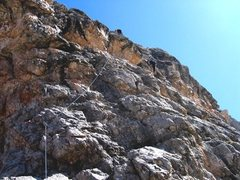 Rock Climbing Photo: Matt starting the first pitch of Via delle Guide o...