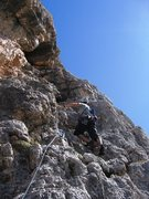 Rock Climbing Photo: Pitch 3 of Via delle Guide.
