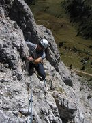 Rock Climbing Photo: Pitch 4 of Via delle Guide.