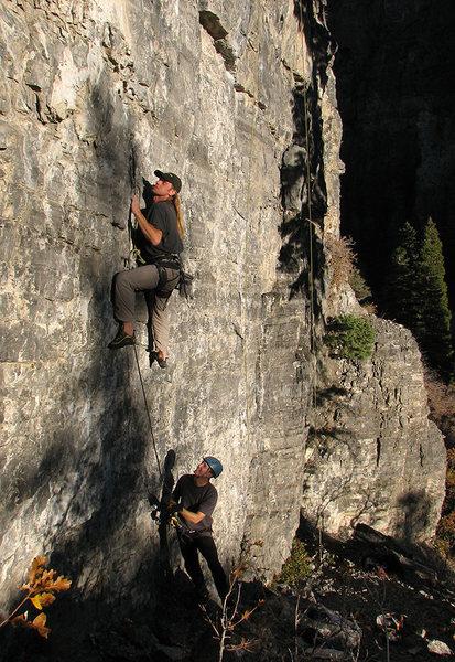 Rock Climbing Photo: Dan Zobell on Fire Woman.
