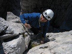 Rock Climbing Photo: Top out on Torre Barancio.