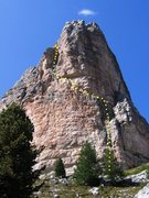 Rock Climbing Photo: Via Miriam on the Torre Grande Cima Sud.  Route ma...