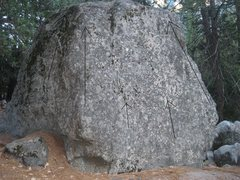 Rock Climbing Photo: Another view of the Roadside Boulder from Boulder ...