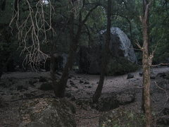 Rock Climbing Photo: The northeast side of the Magistrate Boulder.
