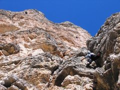 Rock Climbing Photo: First pitch of Via Miriam.