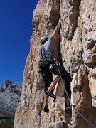 Rock Climbing Photo: Start of the third pitch of Via Miriam.