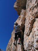 Rock Climbing Photo: Looking up p3 of Via Miriam.
