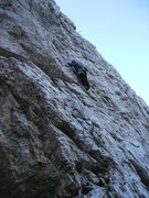 Rock Climbing Photo: Combining p1 and p2 into one 40m pitch on Via Norm...