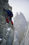 Rock Climbing Photo: new route in Patagonia