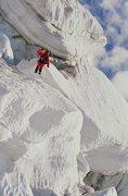 Rock Climbing Photo: first ski descend of Liberty Ridge